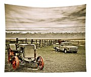 Old Case Tractor Tapestry