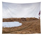 Old  Church In Hellnar, Snaefellsnes Peninsula, Iceland Tapestry