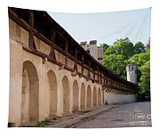 Old City Wall In St Alban Basel Switzerland Tapestry