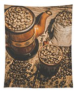 Old Coffee Brew House Beans Tapestry
