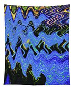 Old Columbia River Water Front Abstract Tapestry
