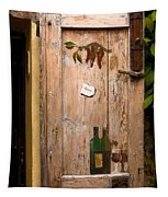 Old Door And Wine Tapestry