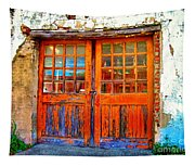 Old Doors Tapestry