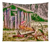 Old Farm Tools Tapestry