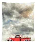Old Farm Truck Pencil Tapestry