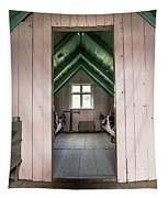Old Farmhouse Interior Iceland Tapestry