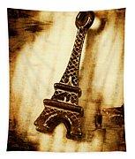 Old Fashion Eiffel Tower Souvenir Tapestry