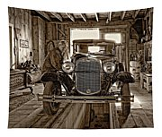 Old Fashioned Tlc Monochrome Tapestry