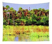 Old Florida Loop Palms Tapestry