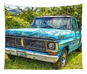 Old Ford Pick Up Truck Pencil Tapestry