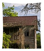 Old Forgotten Farm House Tapestry