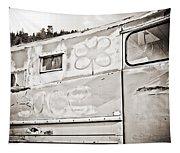 Old Hippie Peace Van Tapestry