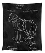 Old Horse Harness Patent  Tapestry