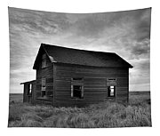 Old House In A Barren Field Tapestry