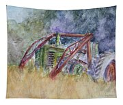 Old John Deere Tractor In The Back 40 Tapestry