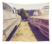 Old Junkyard Cars Chevy And Ford Utah Tapestry