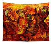 Old Klezmer Band Tapestry