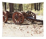Old Logging Wagon Tapestry