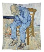 Old Man In Sorrow Tapestry