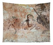 Old Mural Painting In The Ruins Of The Church Tapestry