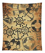 Old Nautical Parchment Tapestry