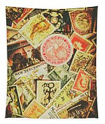 Old New Zealand Stamps Tapestry