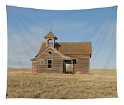 Old One Room School House Tapestry