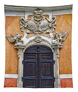Old Ornate Door At The Cesky Krumlov Castle At Cesky Krumlov In The Czech Republic Tapestry