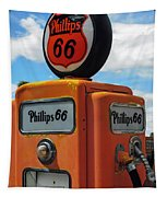 Old Phillips 66 Gas Pump Tapestry