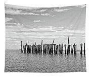 Old Pier Provincetown Harbor Cape Cod Tapestry