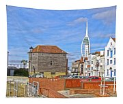 Old Portsmouth Flood Gates Tapestry