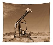 Old Pumpjack  Artesia New Mexico Tapestry