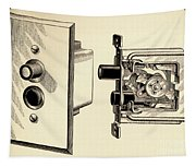 Old Push Button Light Switch Tapestry
