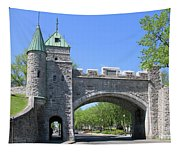 Old Quebec City Wall Quebec City 6358 Tapestry