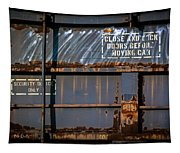 Old Railroad Boxcar  Tapestry