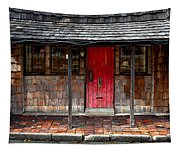 Old Red Door Tapestry
