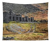 Old Ruin At Cwmorthin Tapestry