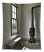 Old School House Stove Tapestry