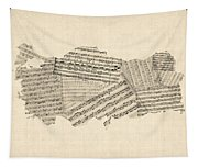 Old Sheet Music Map Of Turkey Map Tapestry