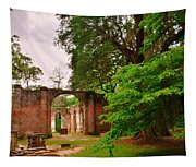 Old Sheldon Church Ruins 3 Tapestry