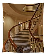 Old State House Spiral Staircase Tapestry