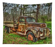 Old Still Art 1947 Ford Stakebed Pickup Truck Ar Tapestry