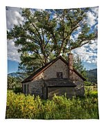 Old Stone Ranch Structure Tapestry