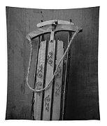 Old Toboggan Sled Tapestry