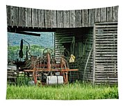 Old Tractor - Missouri - Barn Tapestry