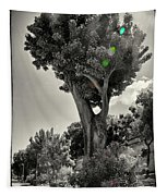 Old Tree In Sicily Tapestry