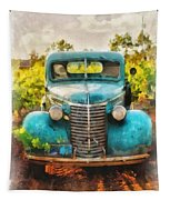 Old Truck At The Winery Tapestry