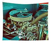 Old Truck Engine Tapestry