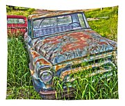 001 - Old Trucks Tapestry