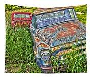 001 - Old Trucks Tapestry